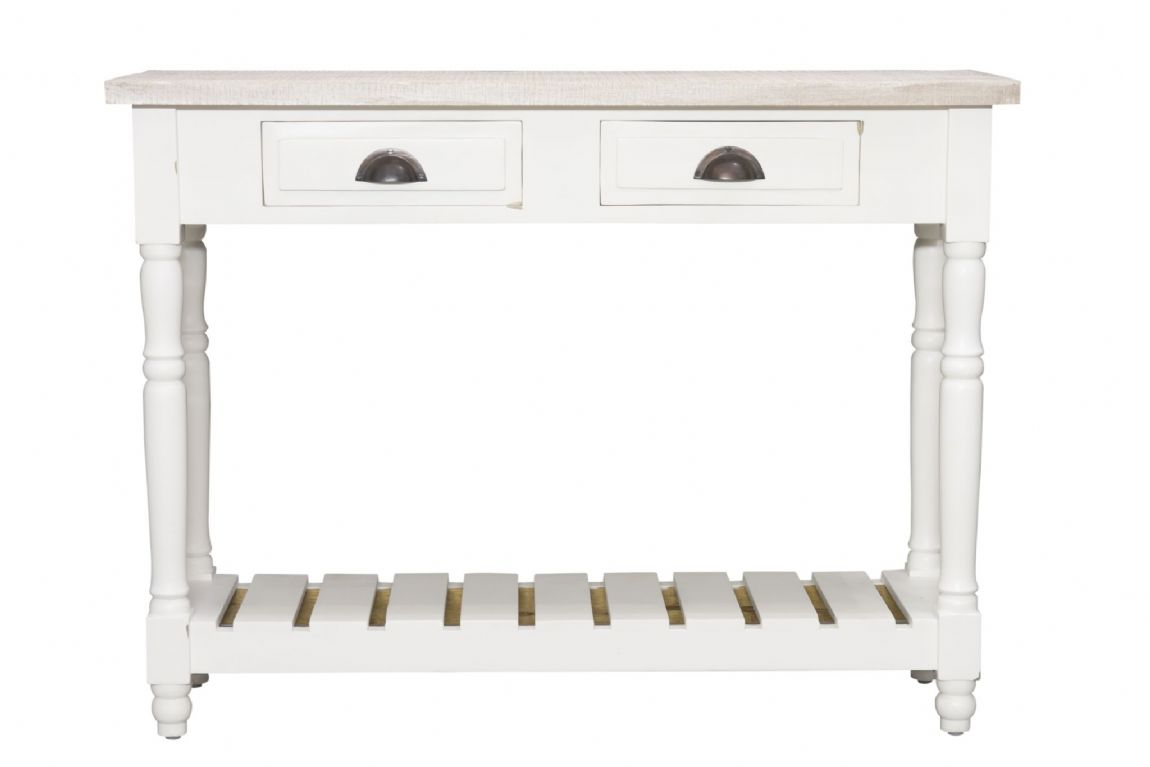 Fowey Console Table - White